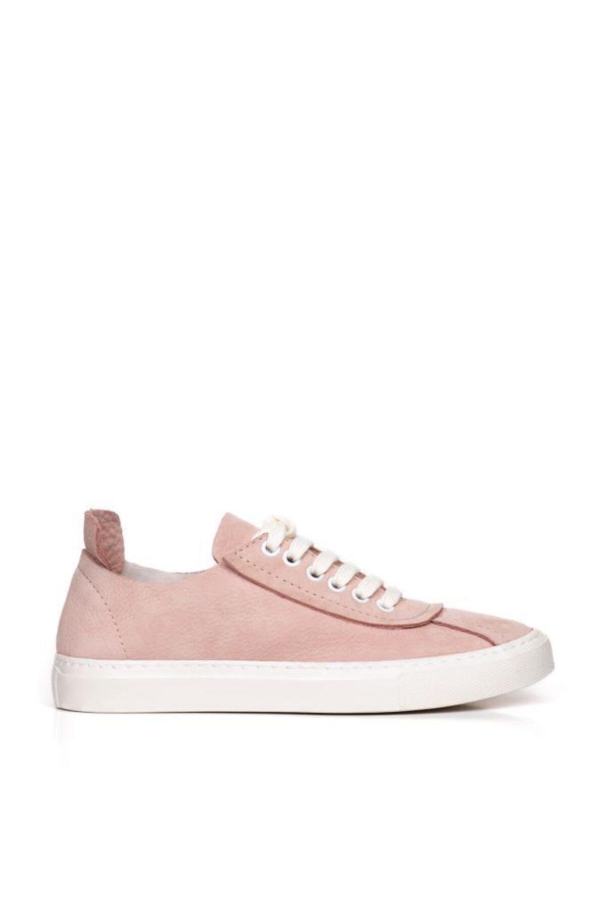 BUENO Shoes Hakiki Deri Bağcık Detaylı Kadın Spor Ayakkabı 20wq4703 2