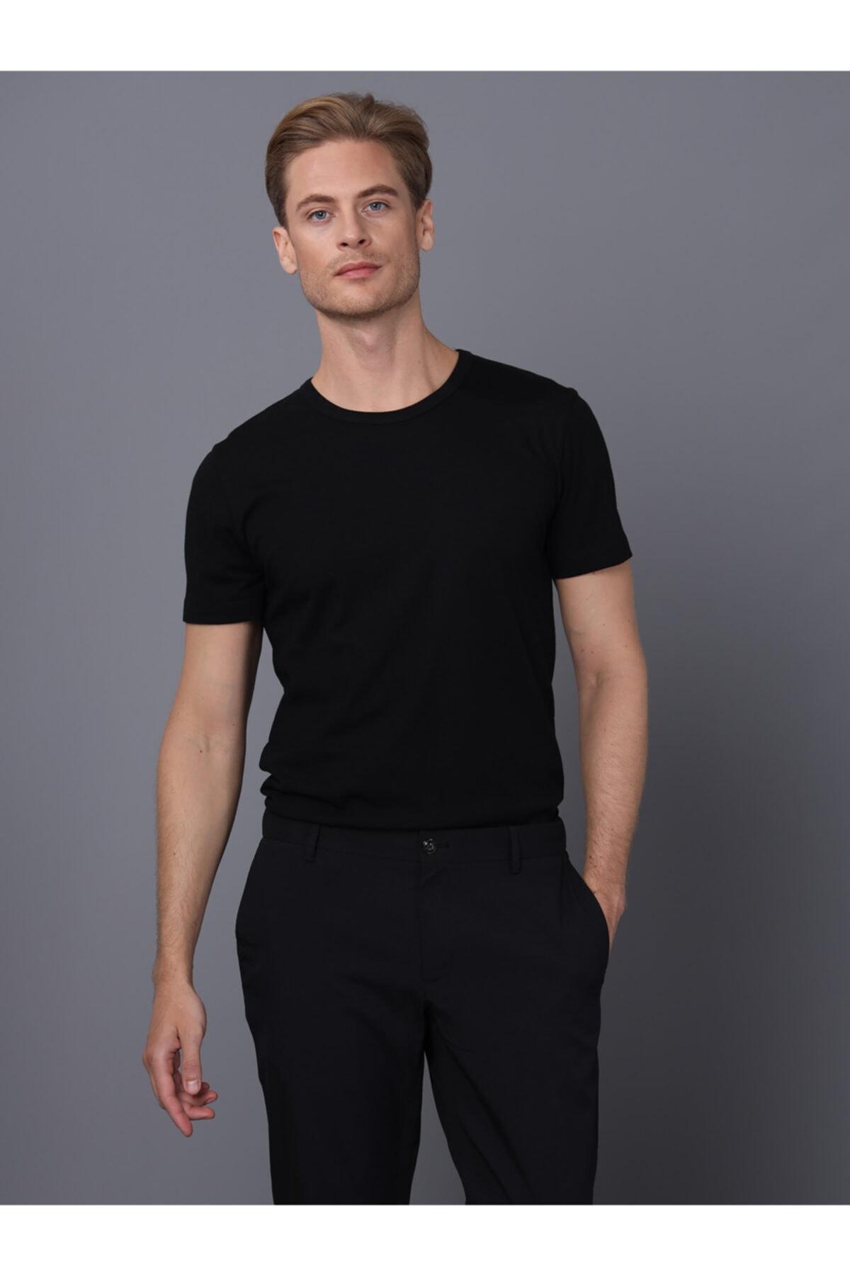 Basics&More Erkek Bisiklet Yaka T-shirt 1