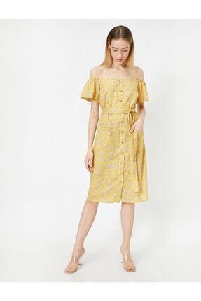 Koton Dügme Detayli Elbise