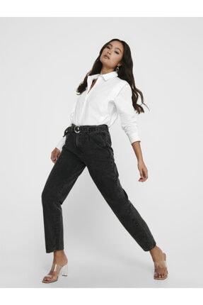 Only Havuç Model Kemerli Jeans 15209570 Onlcarol