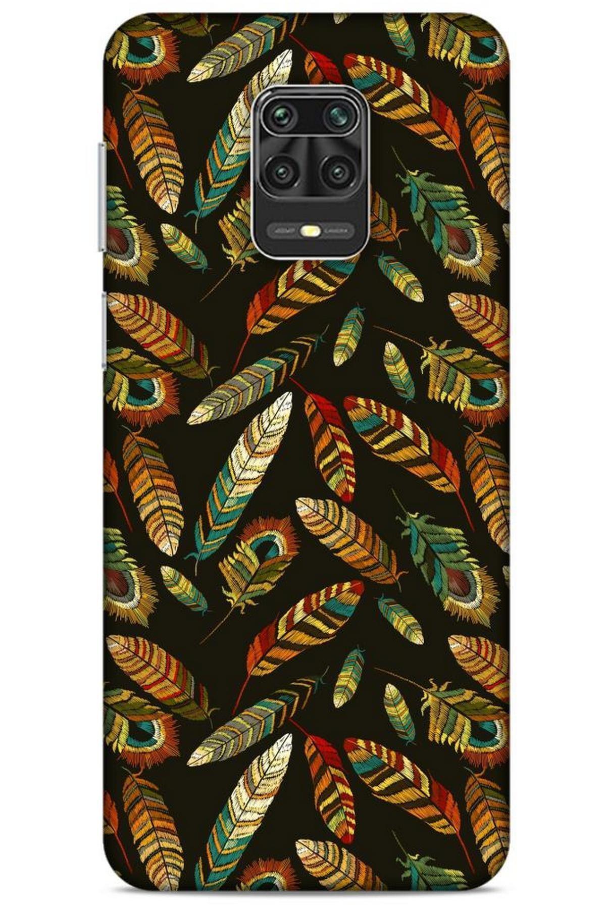 Lopard Xiaomi Redmi Note 9 Pro Kılıf Desenli Özel Seri Tüyler (9) Kılıf 1