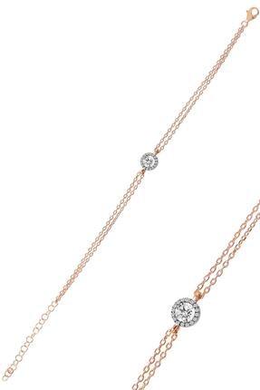 Söğütlü Silver Gümüş Elmas Montürlü Tek Taşlı Bileklik