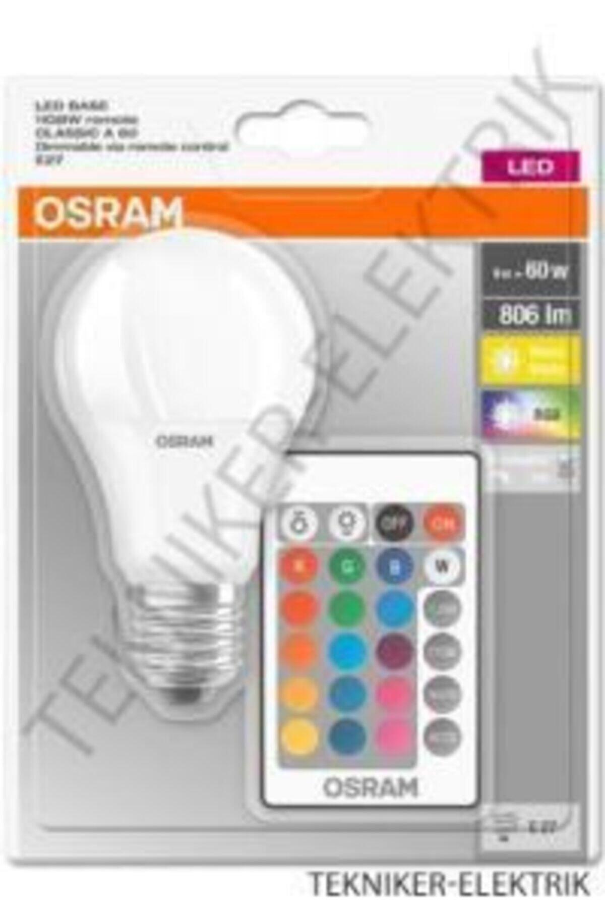 Osram Led Uzaktan Kumandalı Renk Değiştiren 9w 806 Lm E27 Ampul 1