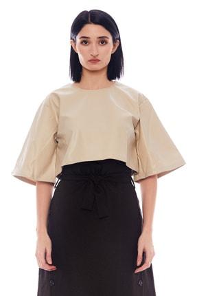 Manche Bej Kadın Deri Gömlek   Mk21w163133