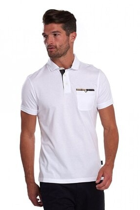 Barbour Corpatch Polo Yaka Wh11 White