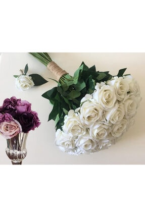 Evsay Gelin Buketi Gül Demeti Gelin Çiçeği Nişan Düğün Buketi