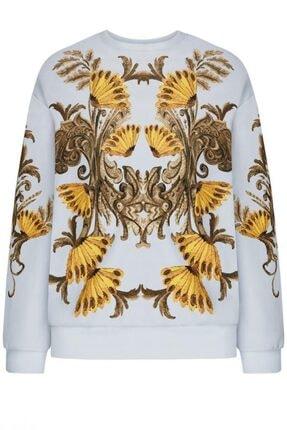 Faberlic Gri Uzun Kol Desenli Sweatshirt 38 Beden
