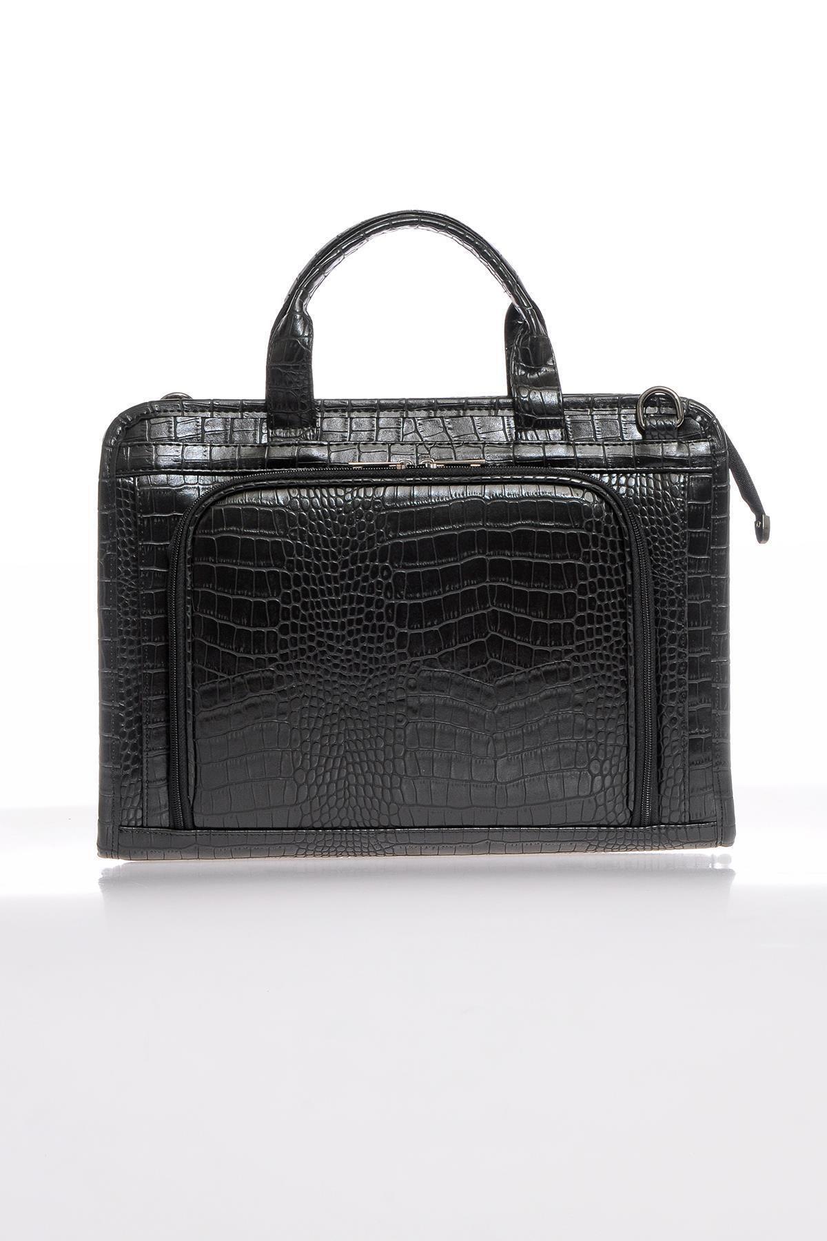 Sergio Giorgianni Luxury Sg071219 Kroko/siyah Unisex Evrak Çantası 1