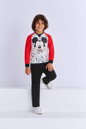 Mickey Mouse Mickey & Minnie Mouse Lisanslı Erkek Çocuk Eşofman Takımı Krem
