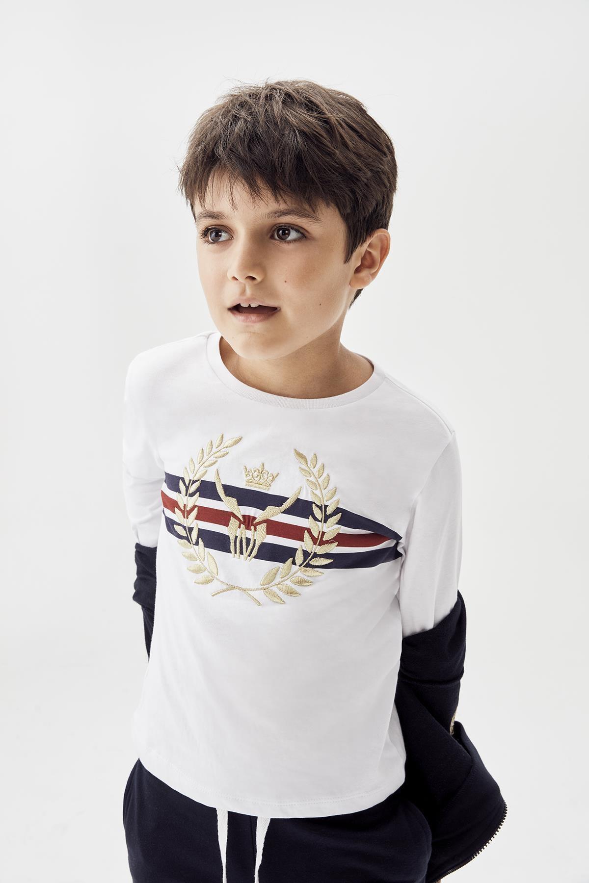 Nebbati Erkek Çocuk Beyaz T-shirt 20fw0nb3514 1