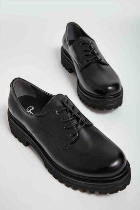 Bambi Siyah Kadın Oxford Ayakkabı M0538011899