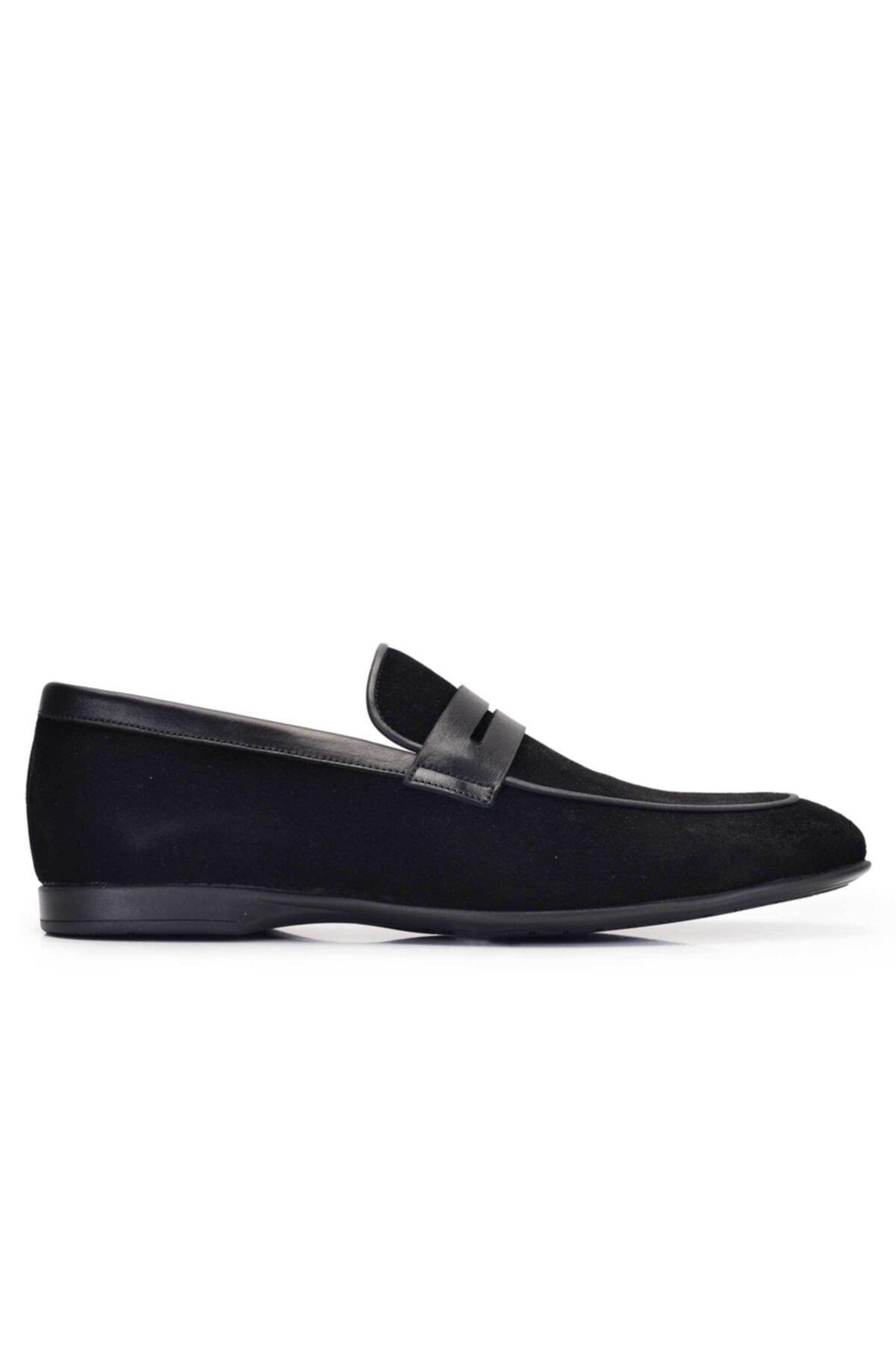 Nevzat Onay Hakiki Deri Siyah Günlük Loafer Yazlık Erkek Ayakkabı -11581- 1