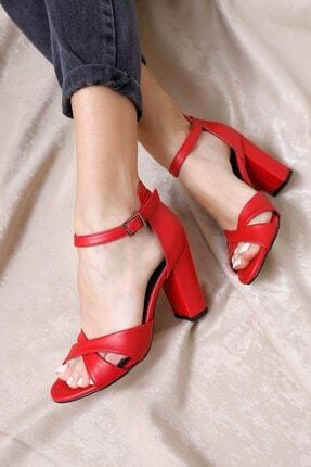 Hayalimdeki Ayakkabı Jany Topuklu Kırmızı Cilt Ayakkabı