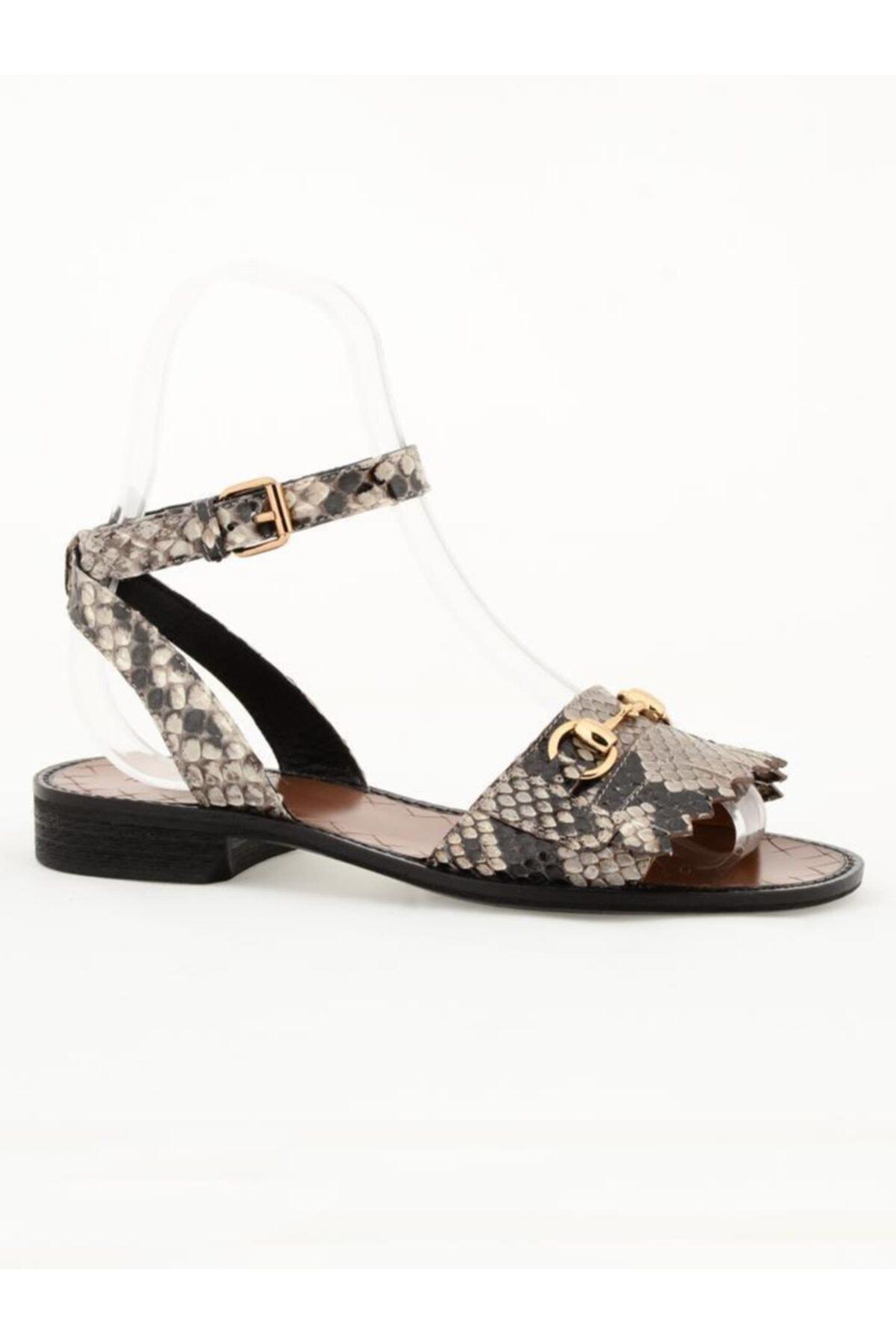Nursace Hakiki Deri Sandalet Nsc18y-a08273 2