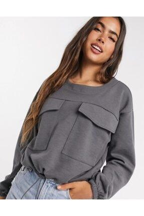 Vero Moda Cep Detaylı Belden Büzülebilir Sweatshirt 10244075 Vmzelda