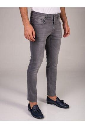 Dufy Gri Erkek Pantolon - Slım Fıt