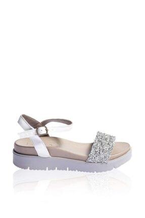 BUENO Shoes Hakiki Deri Kadın Kalın Düz Tabanlı Sandalet 9n3410