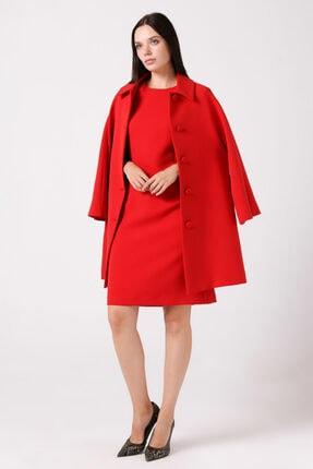 Gusto Yarım Kollu Elbise - Kırmızı