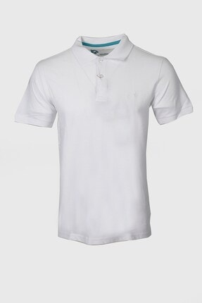 Jakamen Beyaz Slim Fit T-shirt Polo Yaka