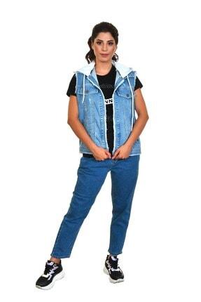 Dali Jeans Kapüşonlu Kot Yelek