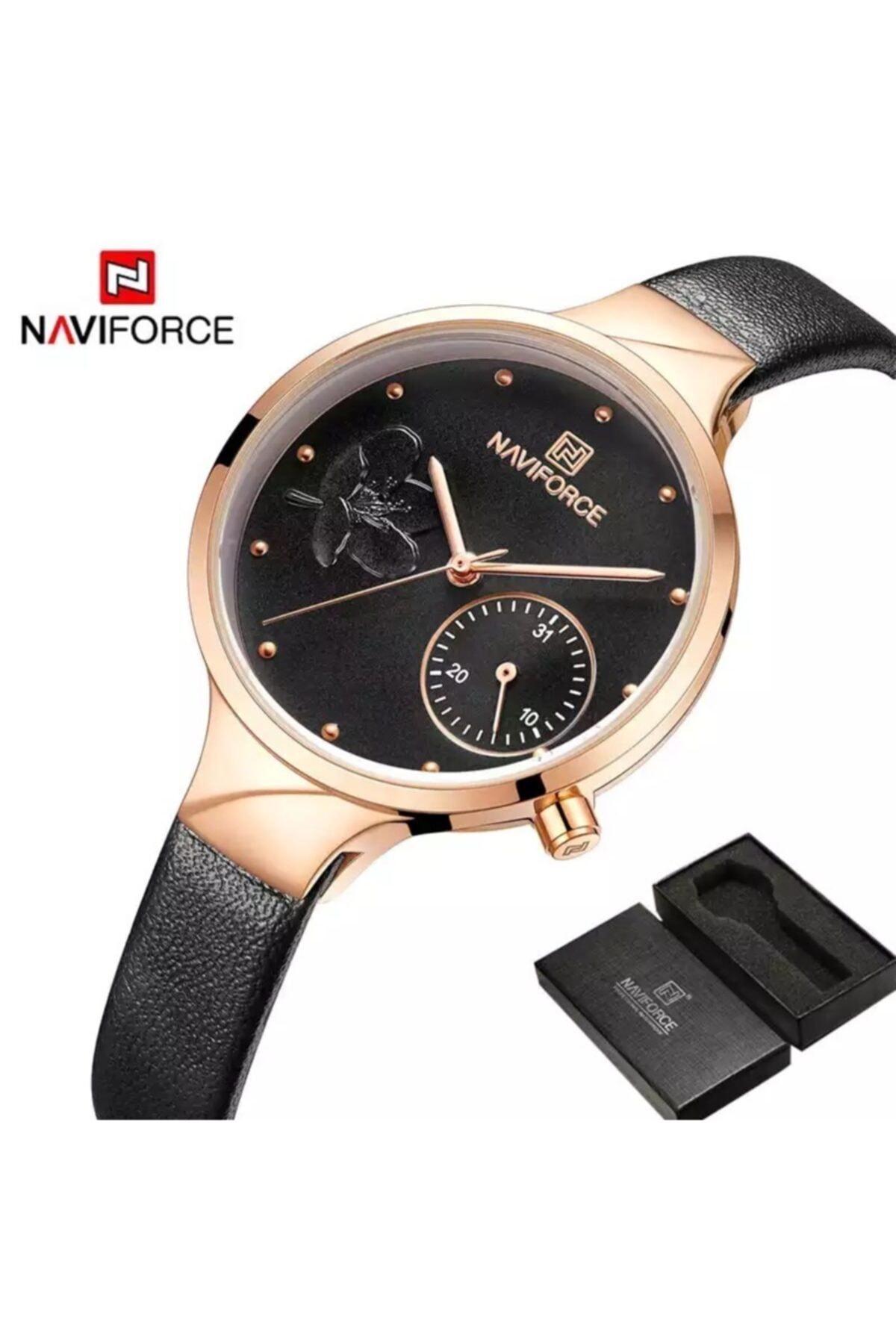 Naviforce Nf5001 Analog Deri Kordon Kadın Kol Saati 1