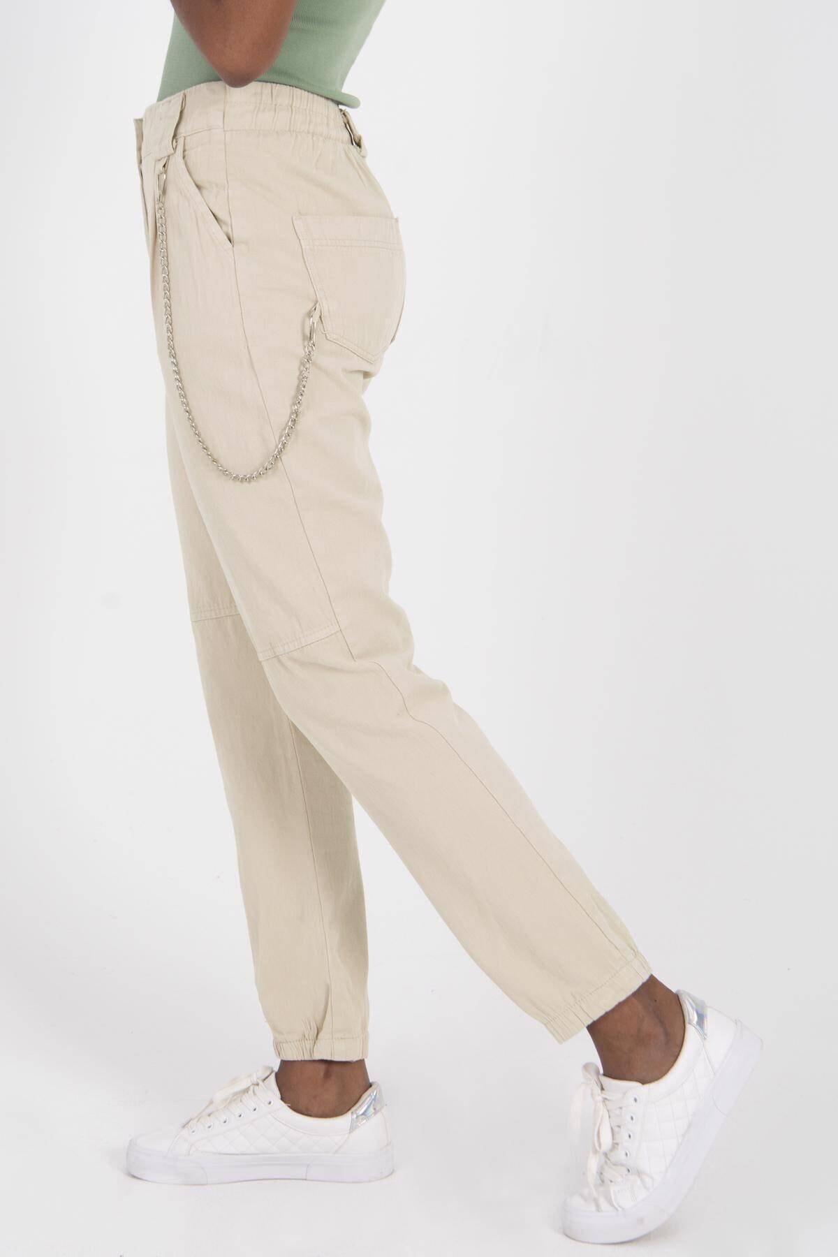 Addax Zincir Detaylı Pantolon Pn3974 - Pnr 2