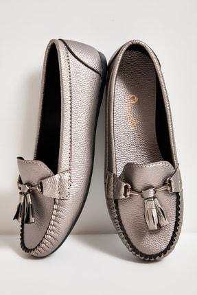 Bambi Gri Kadın Loafer Ayakkabı M05421225