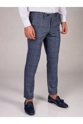 Dufy Lacivert Düz Erkek Pantolon - Slim Fit