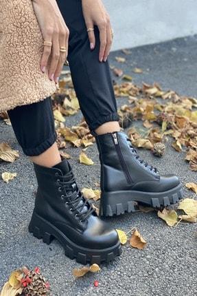 İnan Ayakkabı BAYAN SİYAH BOT&BOOTİE&POSTAL KY5000