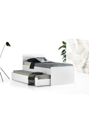 BAMBİNOGNC Yavrulu Karyola 90x190 Beyaz