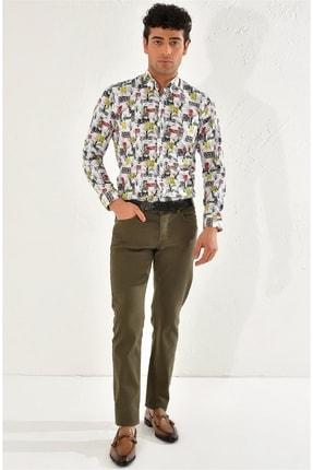 Efor 048 Slim Fit Yeşil Spor Pantolon