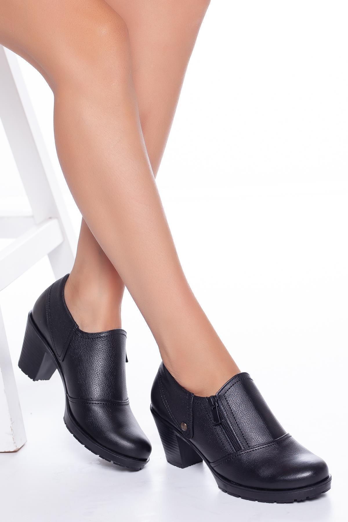 Diego Carlotti Hakiki Deri Topuklu Günlük Kadın Ayakkabı Sonbahar / Kış Sezon 1