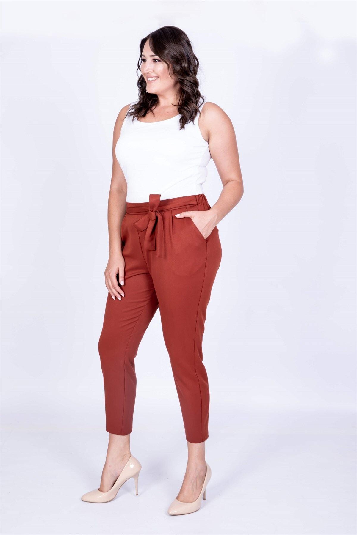 MYLİNE Kemer Detaylı Havuç Pantolon 2