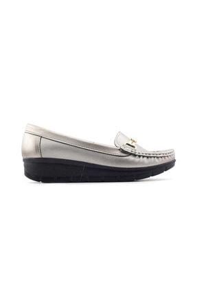 PUNTO 572107 Kadın Günlük Ayakkabı-platin