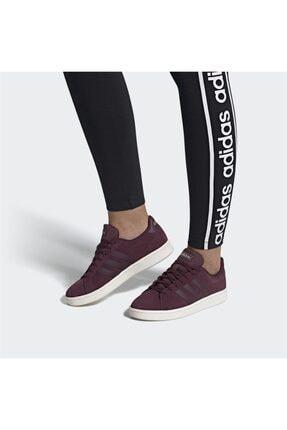 adidas Grand Court Bordo Kadın Günlük Spor Ayakkabı Ee7473