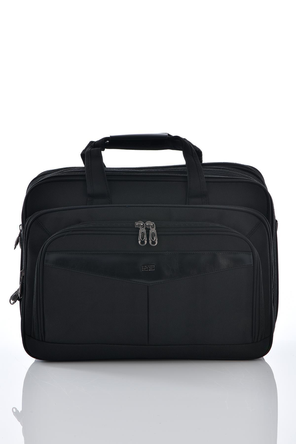 ÇÇS 71147 Laptop Bölmeli Körüklü Evrak Çantası Siyah 1