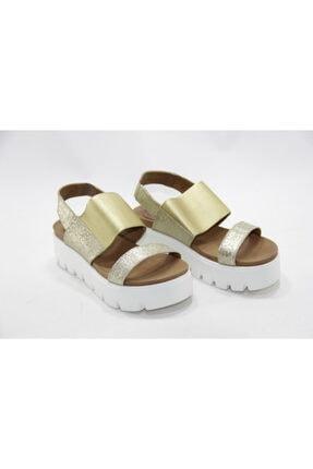 İnci Bayan Gold 36 Numara Hakiki Deri Sandalet