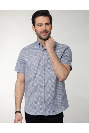 Tudors Klasik Fit Kısa Kol Likralı Gömlek