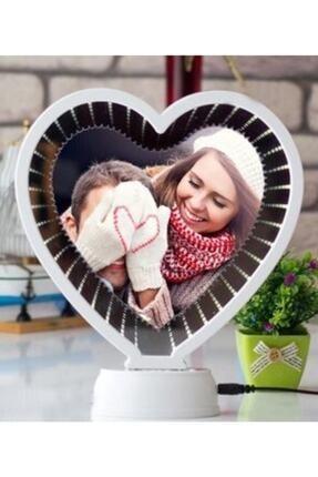 BlackWarehouse Kalpli Fotoğraflı Sihirli Ayna - Kalp Tasarımlı Ayna