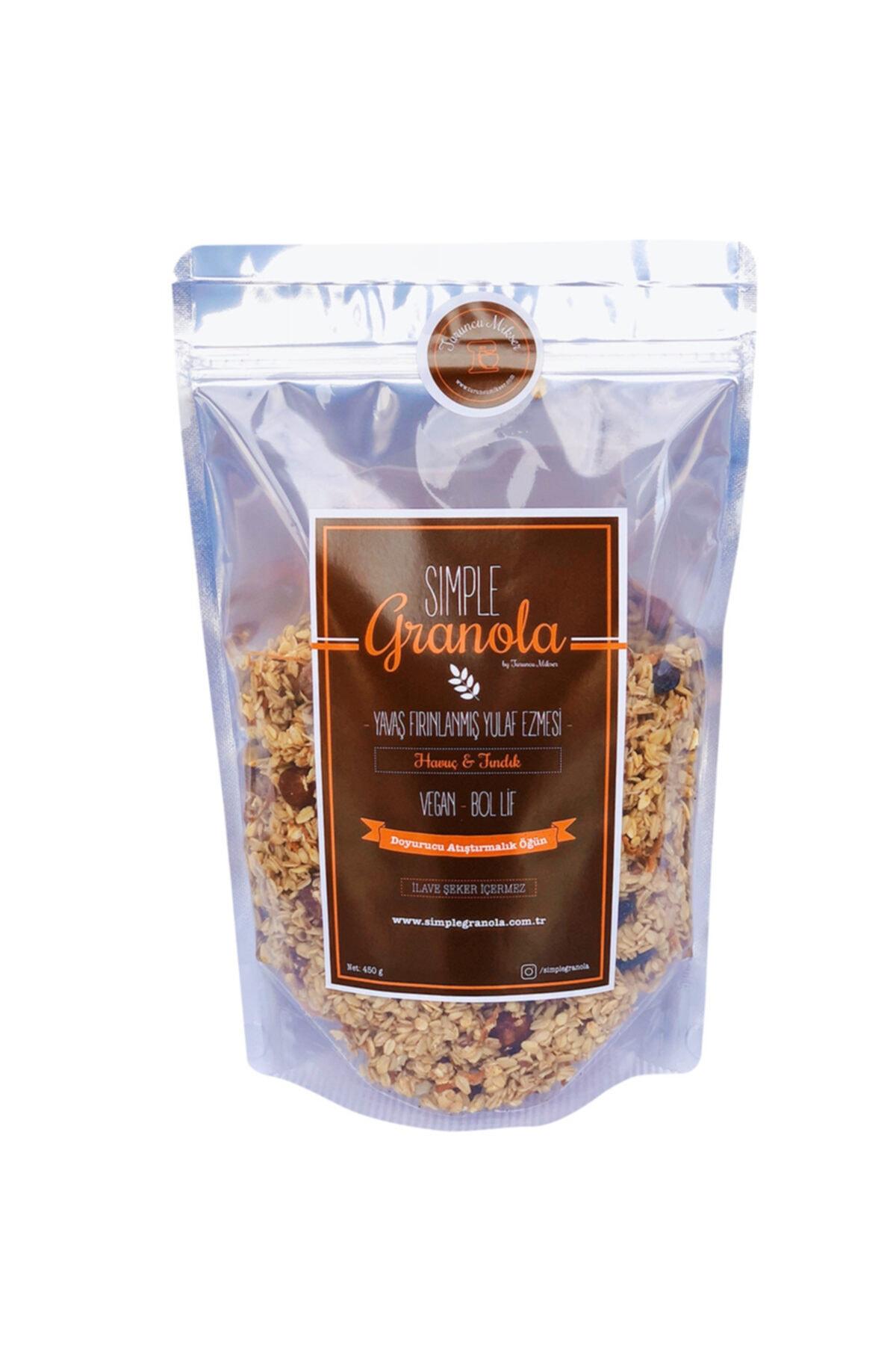 Simple Granola Havuçlu Ve Fındıklı Granola 450 gram 1
