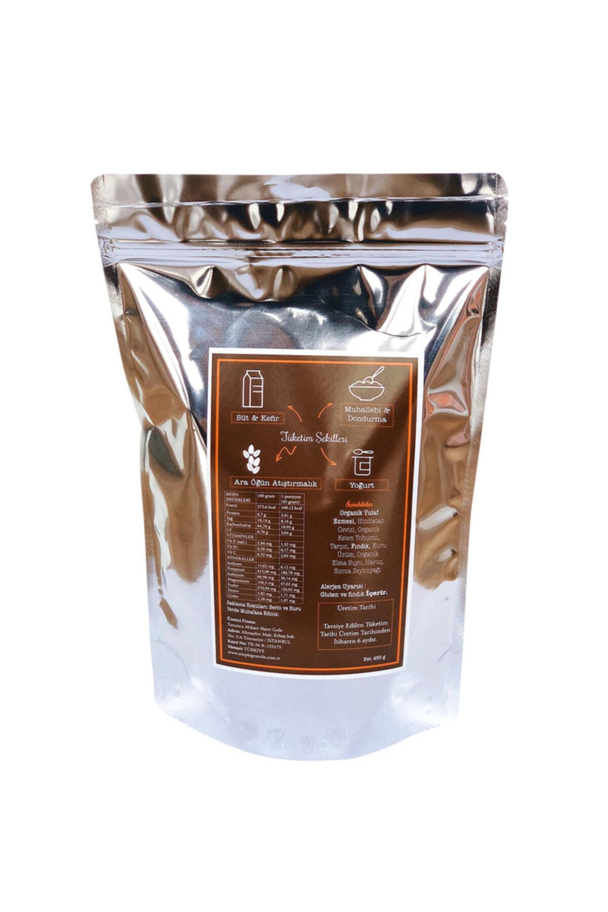 Simple Granola Havuçlu Ve Fındıklı Granola 450 gram 2