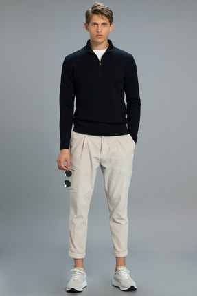 Lufian Gert Smart Chino Pantolon Taılored Tek Pile Ekru