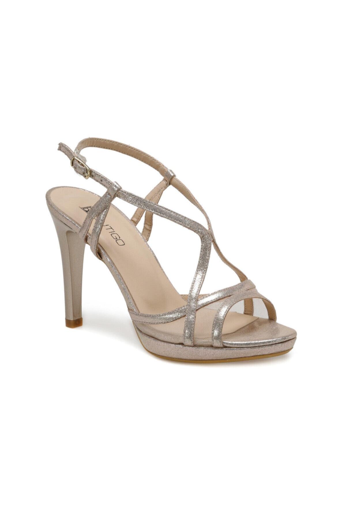 Butigo 20s-102 Altın Kadın Topuklu Sandalet 1