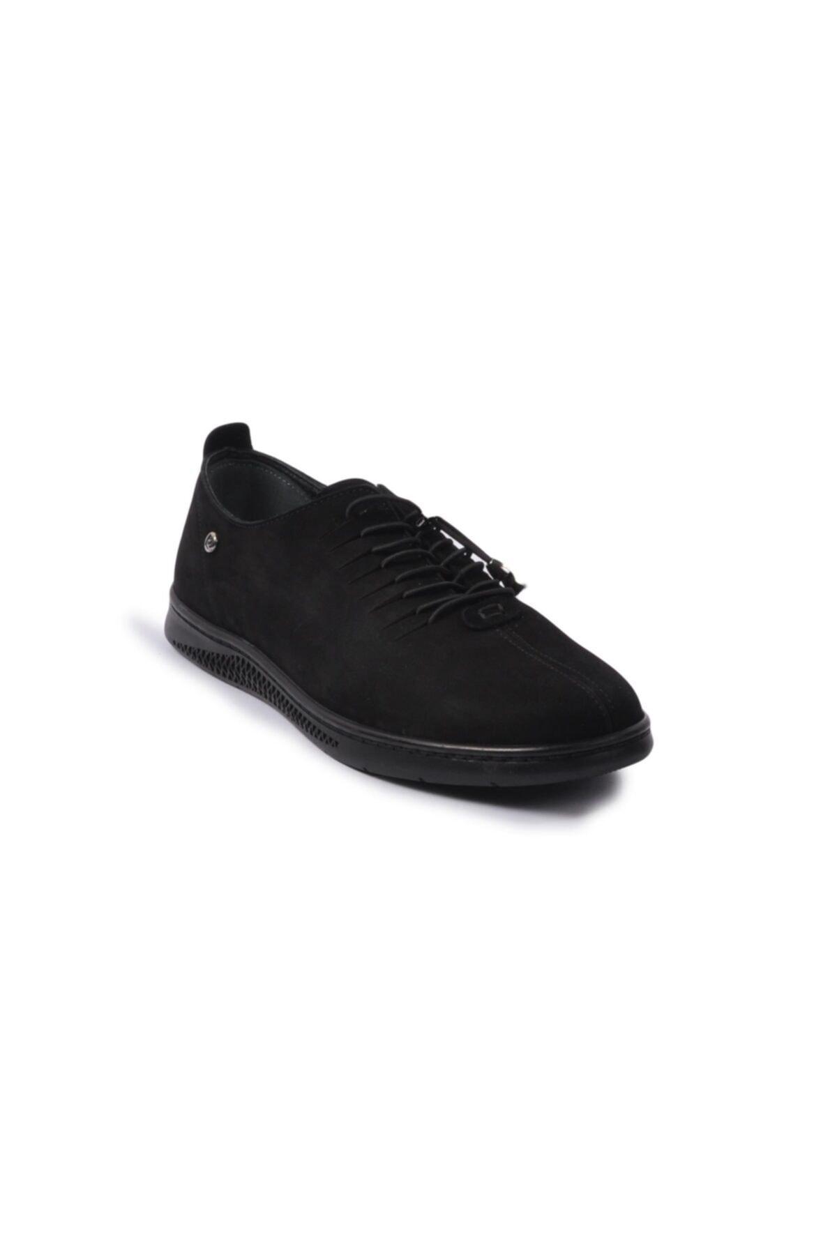 Pierre Cardin Siyah-nubuk Erkek Hakiki Deri Ayakkabı 1
