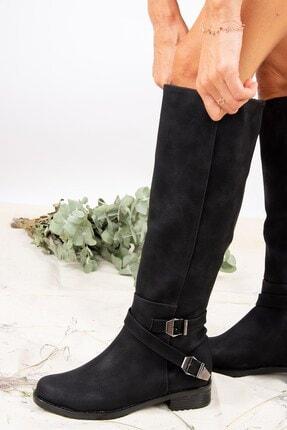Fox Shoes Siyah Baskı Kadın Çizme E726203409