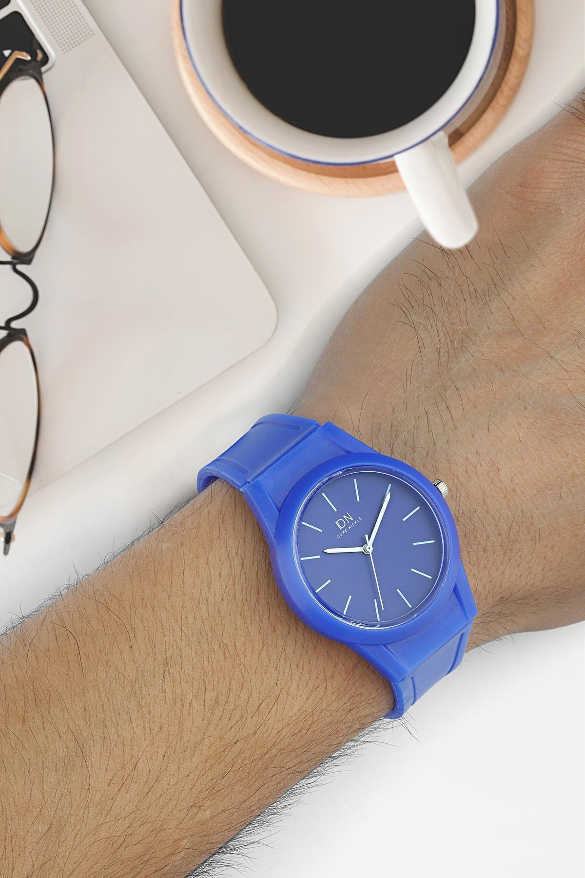 Duke Nickle Due1016 Unisex Kol Saati Silikon Mavi 2