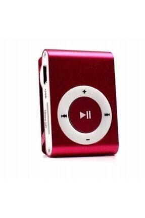 Kensa Kırmız Imini Mp3 Çalar Micro Sd Kart Girişli Müzik Çalar + Kulaklık Mp3