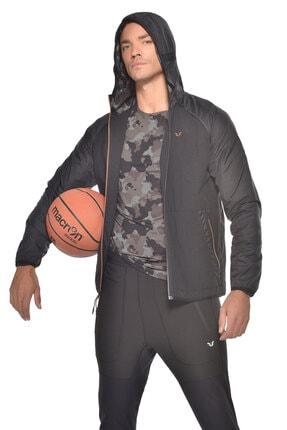 bilcee Erkek  Siyah Kapüşonlu Spor Ceket  Gw-9409