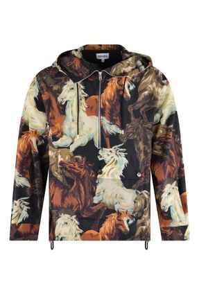 Kenzo Horses Anorak Sweatshirt