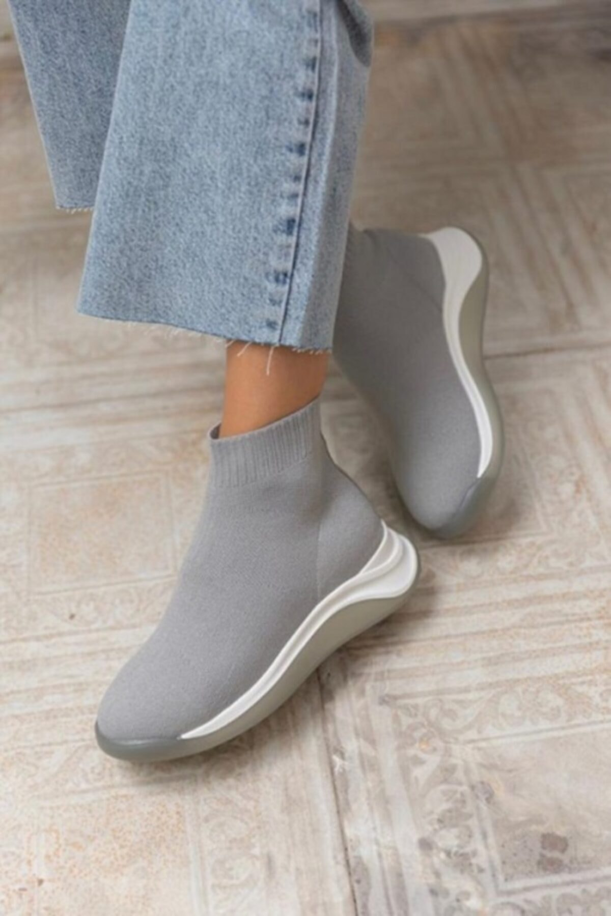 KİMİYA71 SHOES Kimiya71 Kadın Streç Triko Bot / Çorap Bot 1